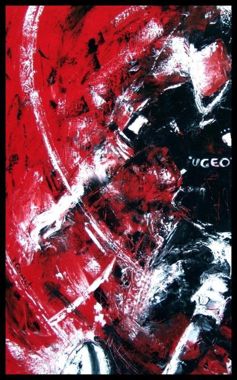 En noir et rouge (vendue)